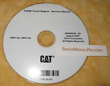 SENR5020 CAT Caterpillar 3406E Truck Engine Factory Repair Service Manual CD