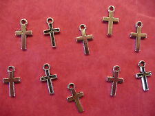 Tibetan Silver Small Cross Charms- 10 per pack