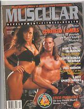 MUSCULAR DEVELOPMENT muscle magazine/LORENZO LAMAS/Renita Harris poster 12-94