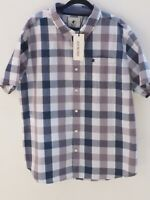 BNWT SOULCAL & CO Men's Cotton Checked Short Sleeve Shirt size 3XL Fit Chest 50""