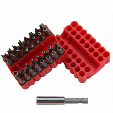 33pcs Tamper Proof Security Screw Driver Bit Hole Torx Hex Set with Holder Case