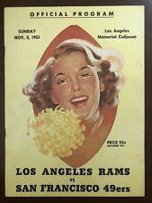 1953 LOS ANGELES RAMS NFL FOOTBALL PROGRAM v. SAN FRANCISCO 49ers ELROY HIRSCH
