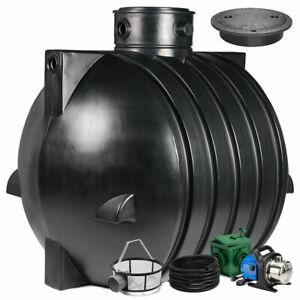 Regenwassertank, Zisterne Smart 6000 L Gartenanlage mit PE-Abdeckung