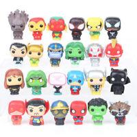 24PCS Marvel Avengers DC Comics MINI Figures Cake Toppers Hulk Kids Toy Gift