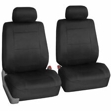 Two Front Car Seat Covers 100% Waterproof Polyester/Neoprene Black