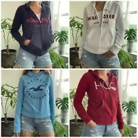 New Hollister Womens Hoodie Sweatshirt Pullover Zip Up