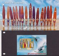 JERSEY PRESENTATION PACK 2009 SURFBOARD CLUB 50TH ANNIVERSARY STAMP SHEET