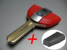 BMW R1200GS F800 F650 K1200 R1200 K1300R Rot Schlüssel Rohling + Transponder