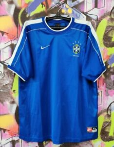Brazil National Football Team Soccer Jersey Maglia Camisa Vintage Mens Size XL