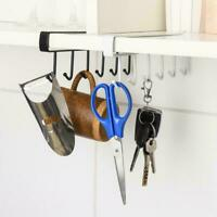 Kitchen Under Cabinet Towel Cup Paper Hanger Rack Organizer Storage Shelf