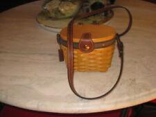 Longaberger Basket Purse Mini Handwoven Crossbody Bag Collector's Club