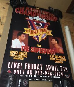 UFC 5 Poster FROM THE WALLS OF THE HAMMER HOUSE GYM Seg Era Royce Gracie Rare