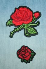 2pcs Embroidered Sew On, Iron On Patch for Clothes, Jeans, Bags, Applique Roses