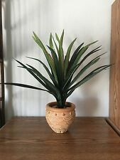 "22"" Artificial Yucca Head Silk Greenery Bush w/32 leaves Home Decor~ w/o pot"