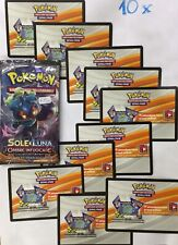 10 X POKEMON TCG Online Code Codice •SOLE E LUNA • OMBRE INFOCATE • Via By Email