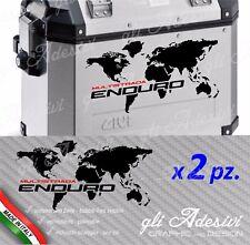 2 Adhesivos maletas GIVI Trekker Ducati Multistrada ENDURO aluminio mapa general