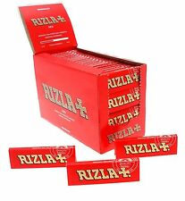 10 Booklet Rizla RED Cigarette Rolling Papers  Regular Size