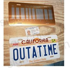 Back to the Future / Delorean / Outatime License Plate , Collectors Set