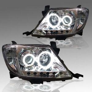FRONT LAMP CLEAR LEN HEADLIGHT PROJECTOR FOR TOYOTA HILUX VIGO MK6 2005-2011