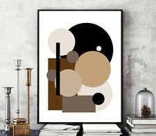 Prints, Posters, Neutral Minimalist Contemporary Art Abstract Art Modern Canvas