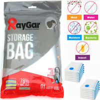 12 X LARGE SPACE SAVING STORAGE VACUUM BAGS CLOTHES BEDDING ORGANISER 80X100CM