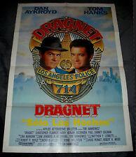 1987 Dragnet, Dan Aykroyd Tom Hanks vintage 1 sheet original 27x41, Spanish ..#b