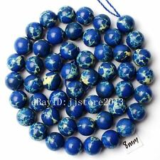 """8mm Natural Blue Crazy Lace Agate Round Shape Gemstone Loose Beads Strand 15"""""""