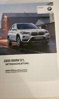 KOMPLETTE BORDMAPPE + BEDIENUNGSANLEITUNG ORIGINAL BMW X1 F48 NEUWERTIG