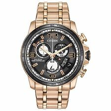 Citizen Eco-Drive Men's BY0108-50E A-T Atomic Chronograph Rose Gold 44mm Watch