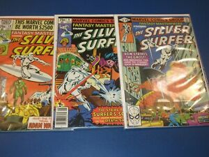 Fantasy Masterpieces #8,9,10 Bronze age lot of 3 Silver Surfer FVF Beauties