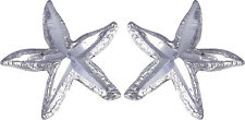 925 Sterling Silver Star Fish Pin Earring with Butterfly Fastening Made in USA
