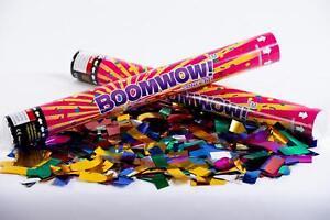 Multicoloured Metallic confetti cannon launcher/popper