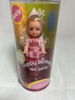 NEW! Kelly doll Happy Birthday Tea Party & Tea Cup Pink Barbie blond 2003