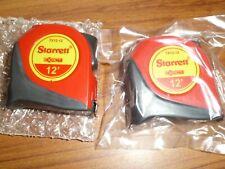 1/2 x 12' Exact Pocket - Tape Measure - Red - Starrett TX12-12 NEW LOT OF 6