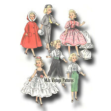 "Vtg 50s Doll Clothes Pattern ~ for 20"" 21"" Miss Revlon, Sweet Sue, Cissy, Toni"