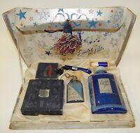 Vintage 1940s Evening in Paris Perfume & Make-Up Powder Lipstick Set with Box