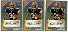 MONTARIO HARDESTY AUTOGRAPH ROOKIE 3 LOT 2010 TOPPS CHROME 168 CLEVELAND BROWNS