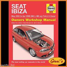 4889 Haynes Seat Ibiza (maggio 2002-APR 2008) 02 - 08 Manuale di Officina