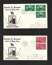 PH 10 F.D.C. Crosby Cachet F.D.R. Memorial Stamp  Issue 4 covers S.C.#930-933