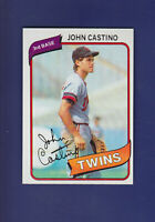 John Castino RC 1980 TOPPS Baseball #137 (NM) Minnesota Twins