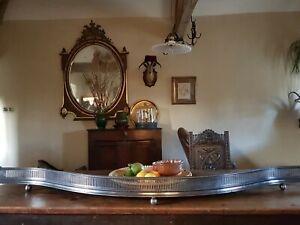 Huge !! English polished steel serpentine fender with letter of provenance.