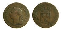 s55_29) France Louis XVI - 1 SOL A L'ECU - 1791 D