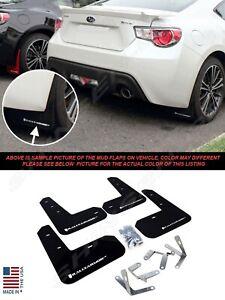 Rally Armor UR Black Mud Flaps w/ White Logo for 2013-2017 Subaru BRZ Scion FR-S