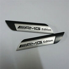 1 Pair of Matte AMG Edition Black Metal Decal Emblem Badge Sticker Sport Limited