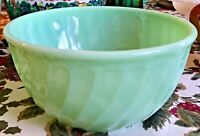 "Vintage Fireking Jadeite Swirl 8"" Mixing Bowl Fire-King Anchor Hocking"