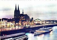 Köln , Abendstimmung ,AK 1957 gel.