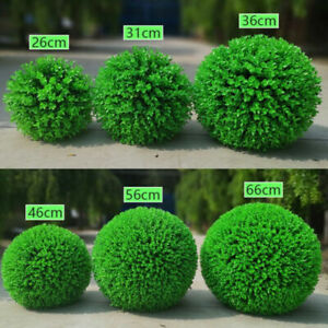 Artificial Grass Green Topiary Balls Indoor Hanging Garden Home Decor