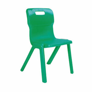 Titan One Piece Chair 260mm Green Pack of 30 KF78596