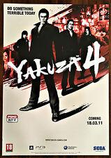 Yakuza 4 PS3 SEGA Genuine Official Video Game Promo Poster 43x60cm
