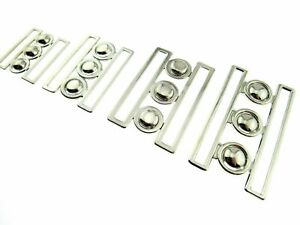 NURSES WASPIE BUCKLES - 4 x SIZES- 2 x COLOURS SILVER or GOLD COLOUR BUCKLES